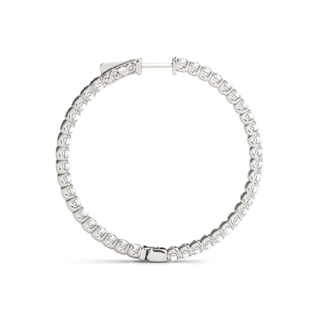 5.5 CTW Diamond VS/SI Certified 64 Mm Hoop Earrings 14K - 3