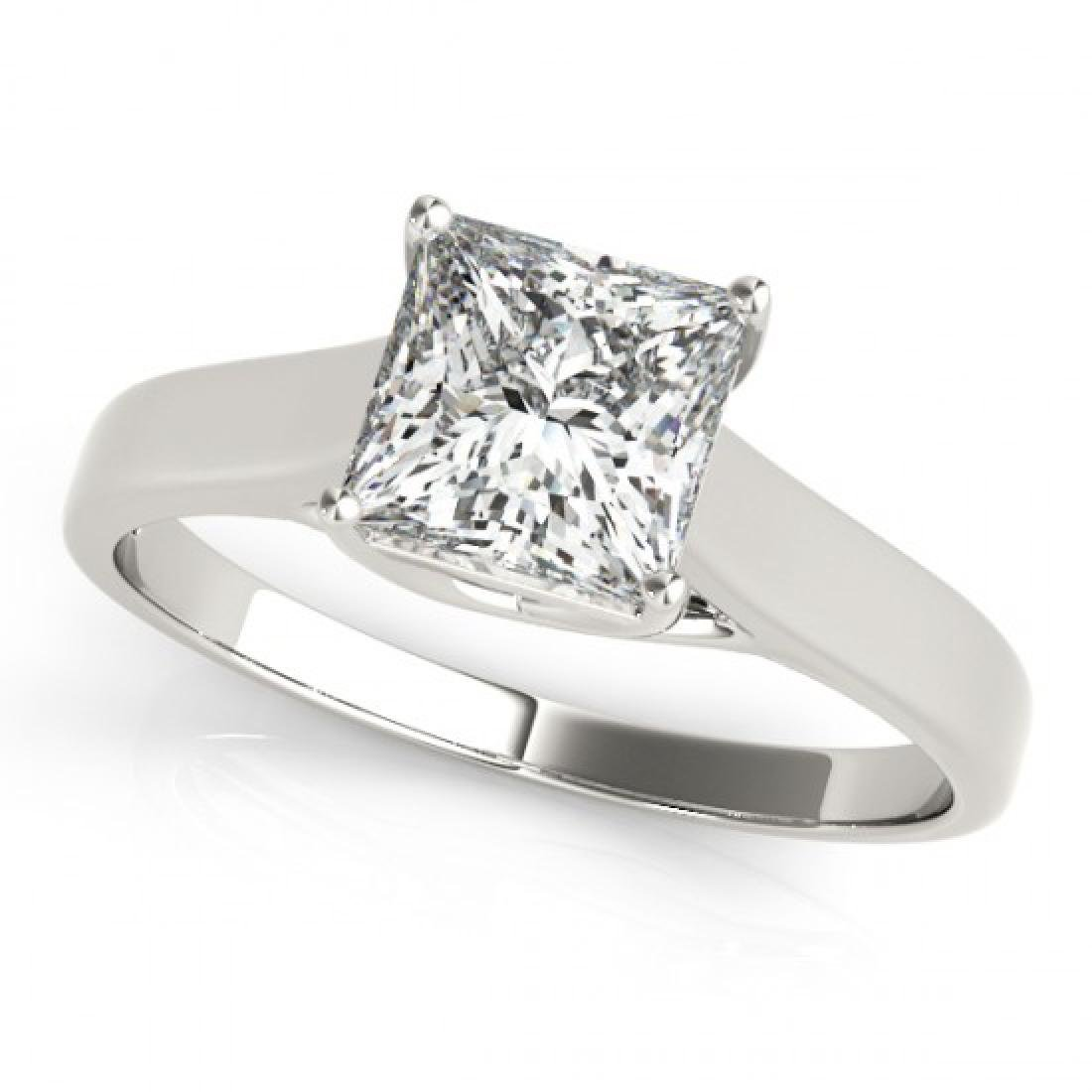0.75 CTW Certified VS/SI Princess Diamond Ring 14K - 2