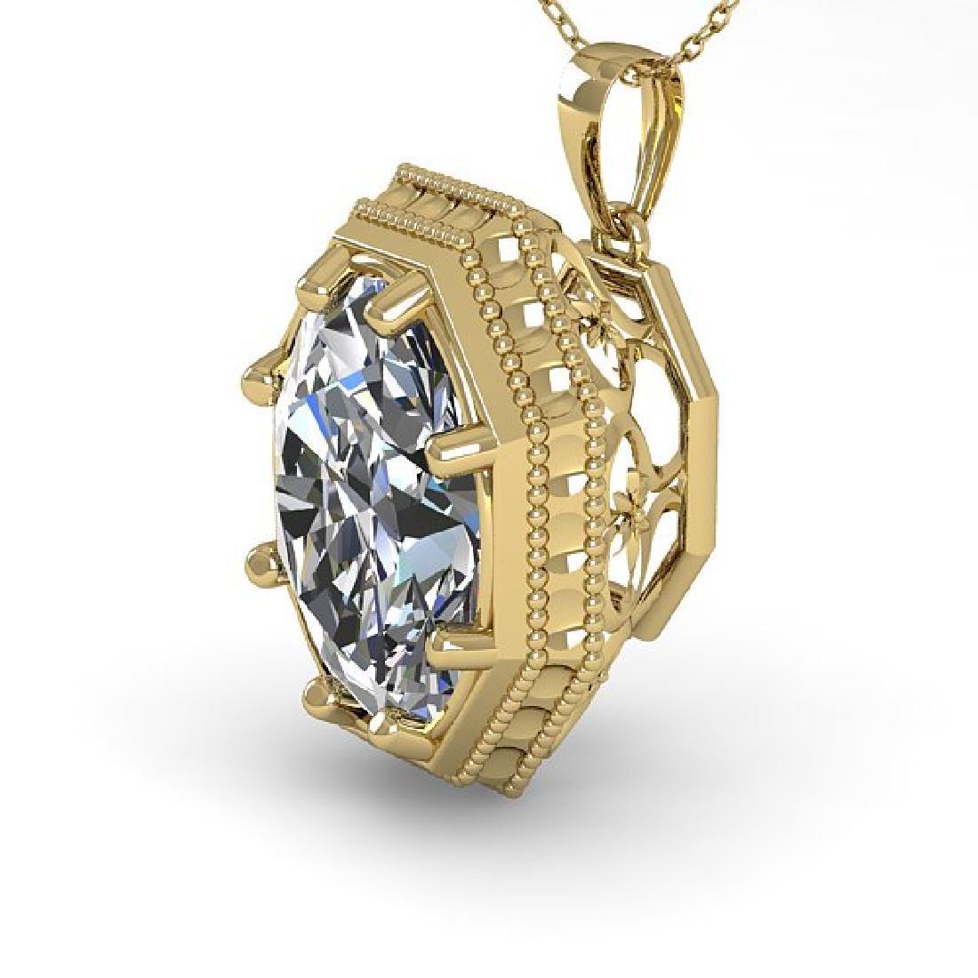 1 CTW VS/SI Oval Cut Diamond Solitaire Necklace 14K