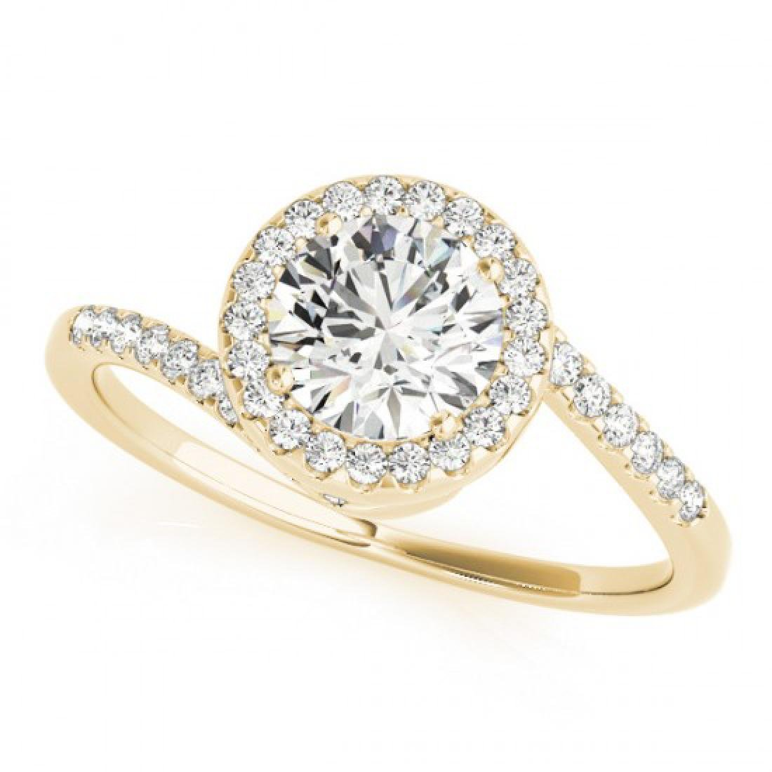 0.75 CTW Certified VS/SI Diamond Bypass Solitaire Ring - 2