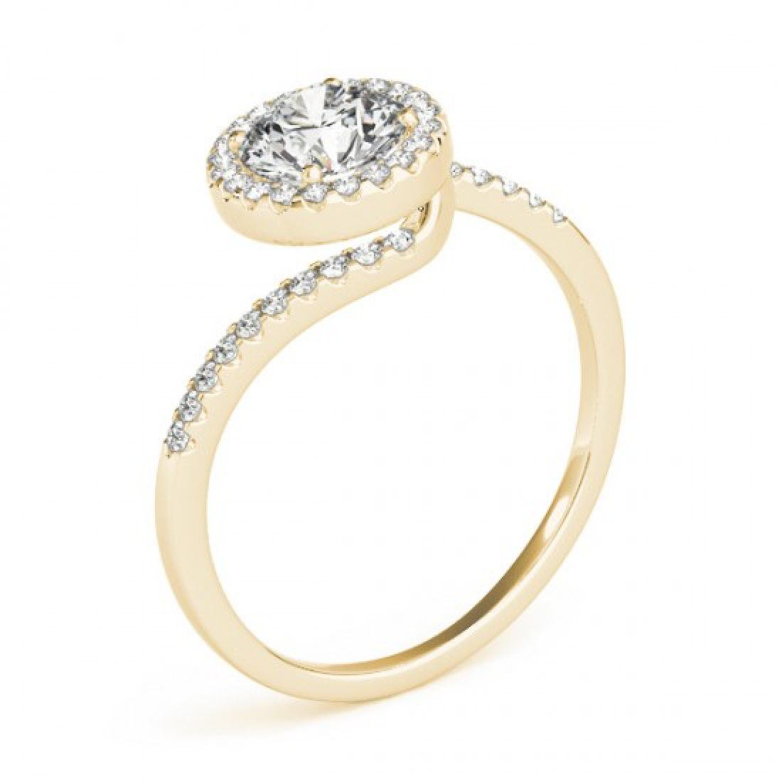 0.75 CTW Certified VS/SI Diamond Bypass Solitaire Ring - 3