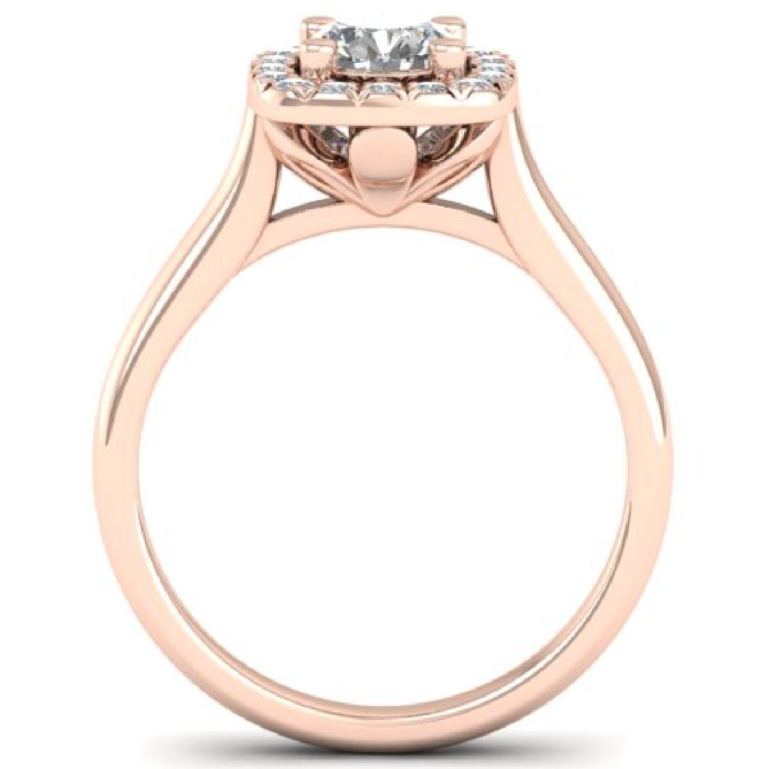 1.01 CTW Certified VS/SI Diamond Solitaire Halo Ring - 3