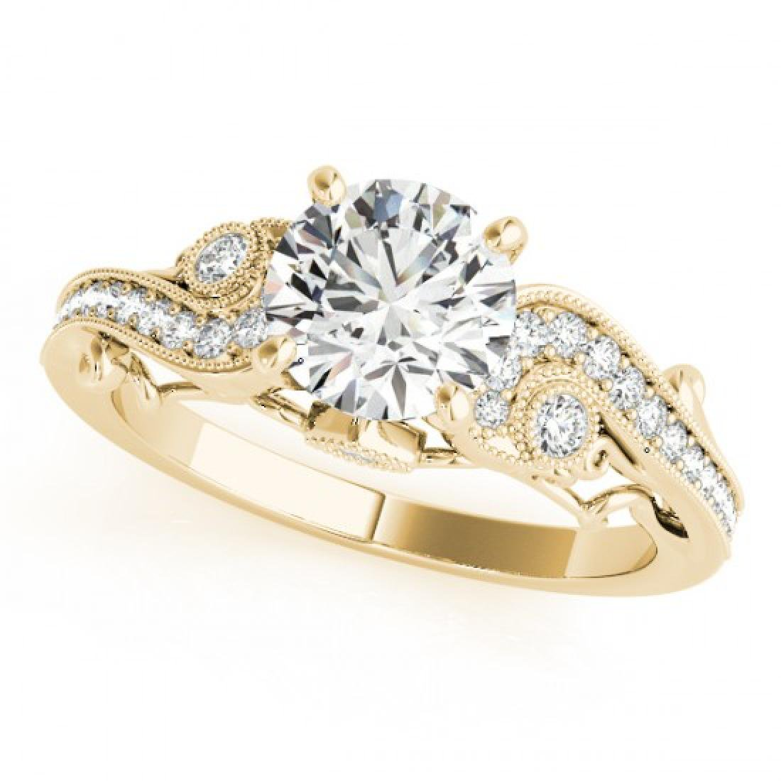 1.5 CTW Certified VS/SI Diamond Solitaire Antique Ring