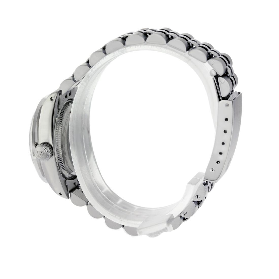 Rolex Ladies Stainless Steel, Diam/Emerald Dial & - 3