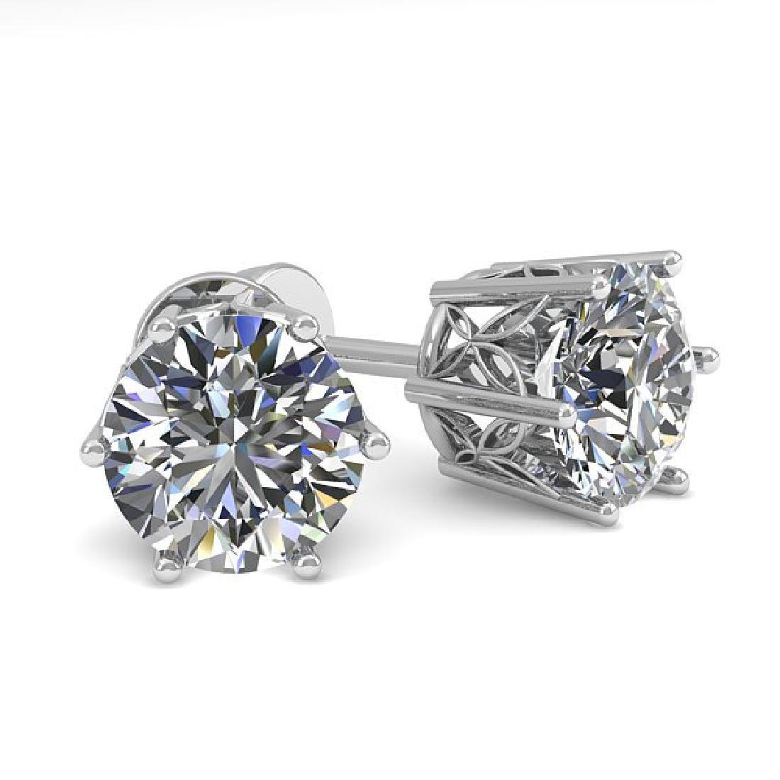1.50 CTW Certified VS/SI Diamond Stud Art Deco Earrings
