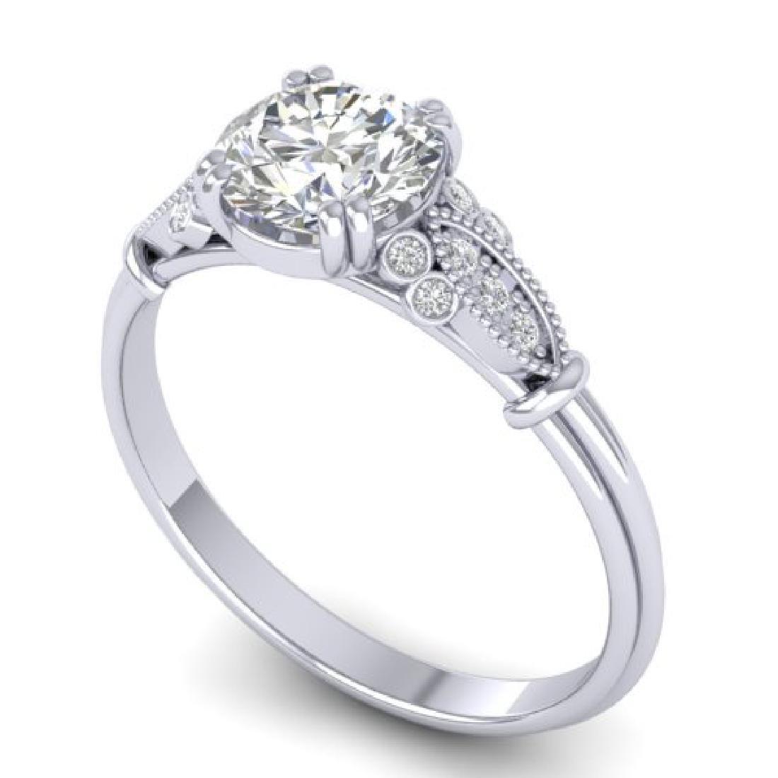 1.15 CTW Certified VS/SI Diamond Solitaire Art Deco - 2