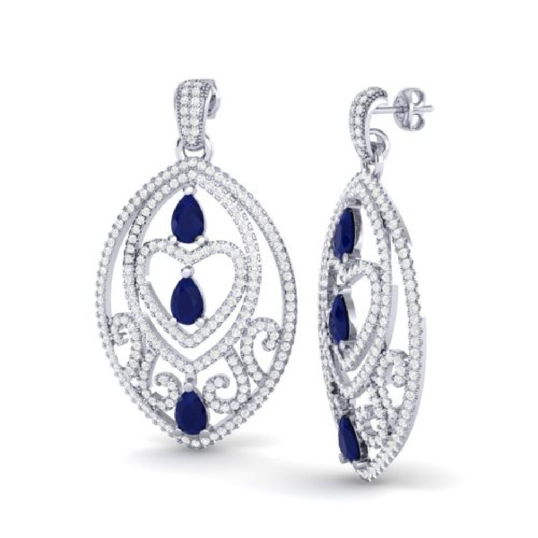 7 CTW Sapphire & Micro Pave VS/SI Diamond Heart - 2