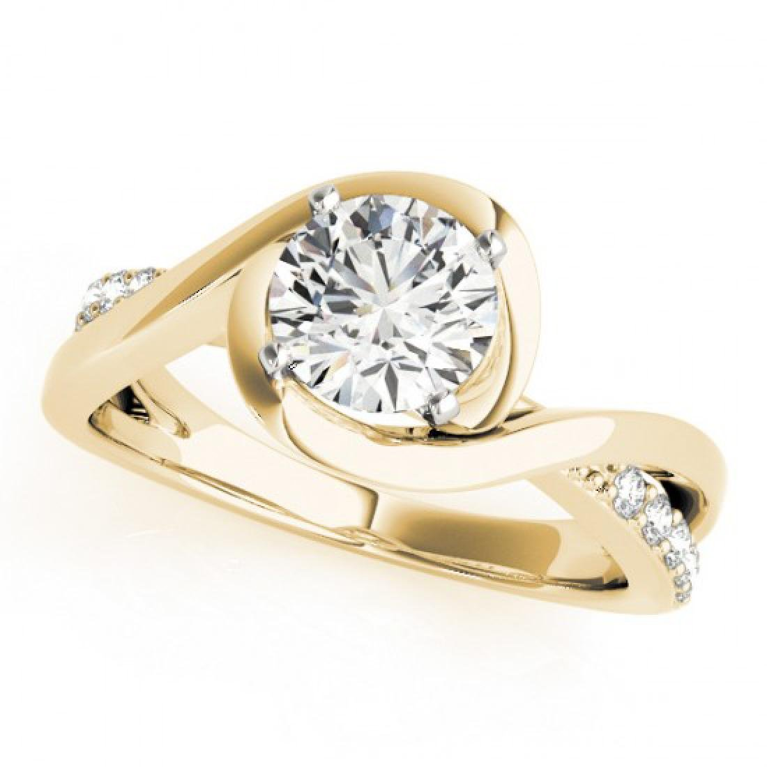 0.9 CTW Certified VS/SI Diamond Solitaire Ring 14K - 2