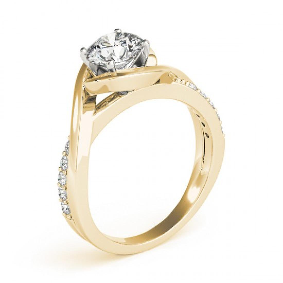 0.9 CTW Certified VS/SI Diamond Solitaire Ring 14K - 3
