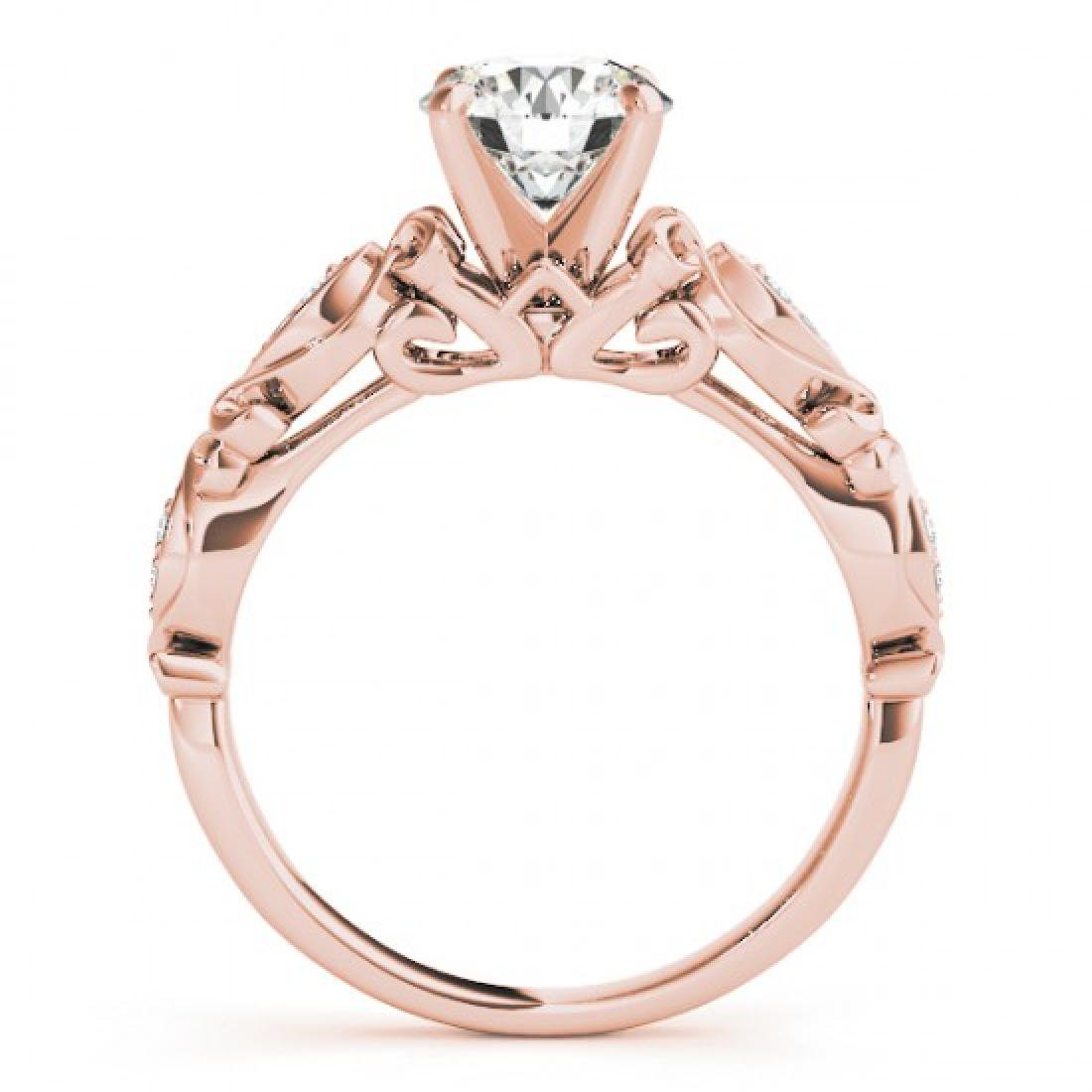 0.85 CTW Certified VS/SI Diamond Solitaire Antique Ring - 2