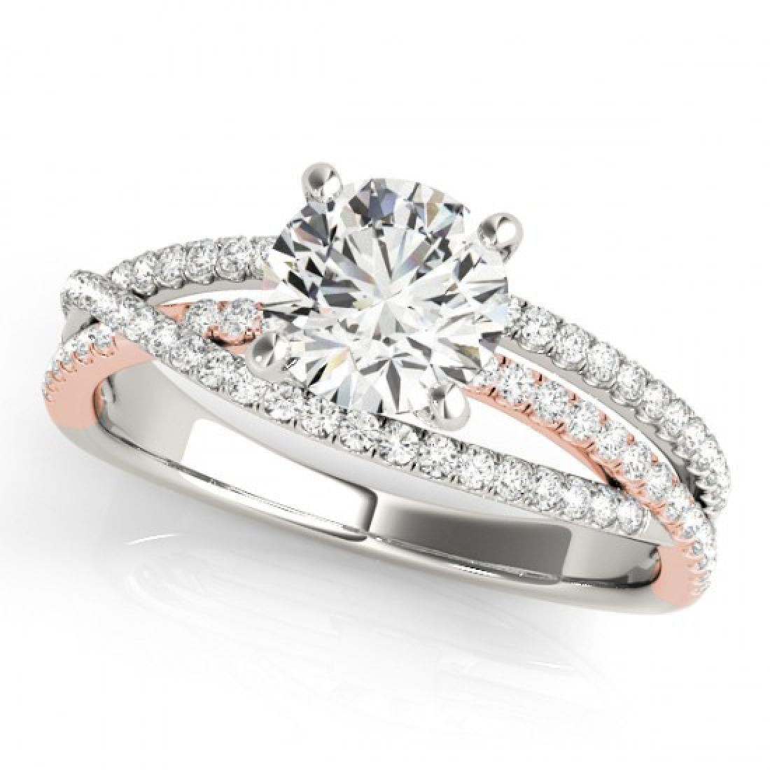 1.65 CTW Certified VS/SI Diamond Solitaire Ring 14K - 2