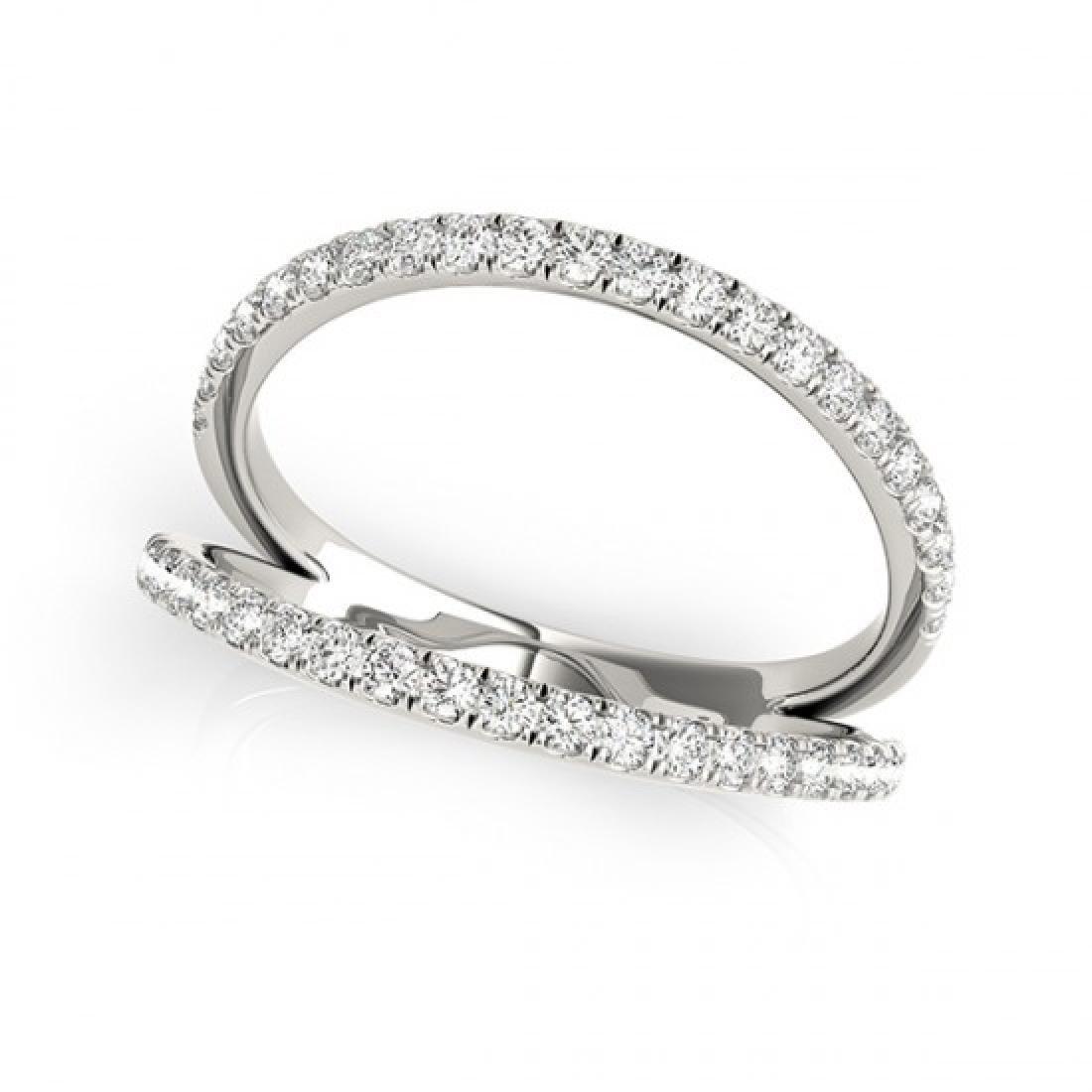 0.33 CTW Certified VS/SI Diamond Fashion Ring 14K White - 2