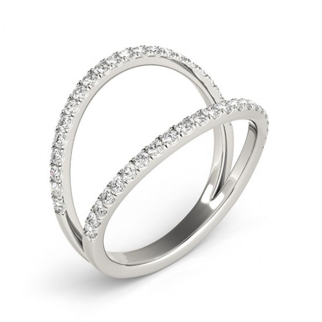 0.33 CTW Certified VS/SI Diamond Fashion Ring 14K White - 3