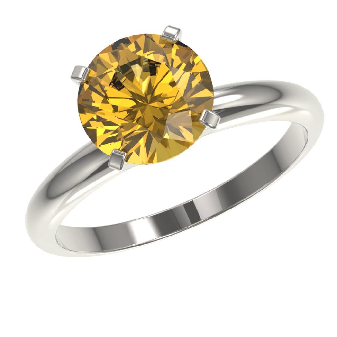 2.50 CTW Certified Intense Yellow SI Diamond Solitaire - 2