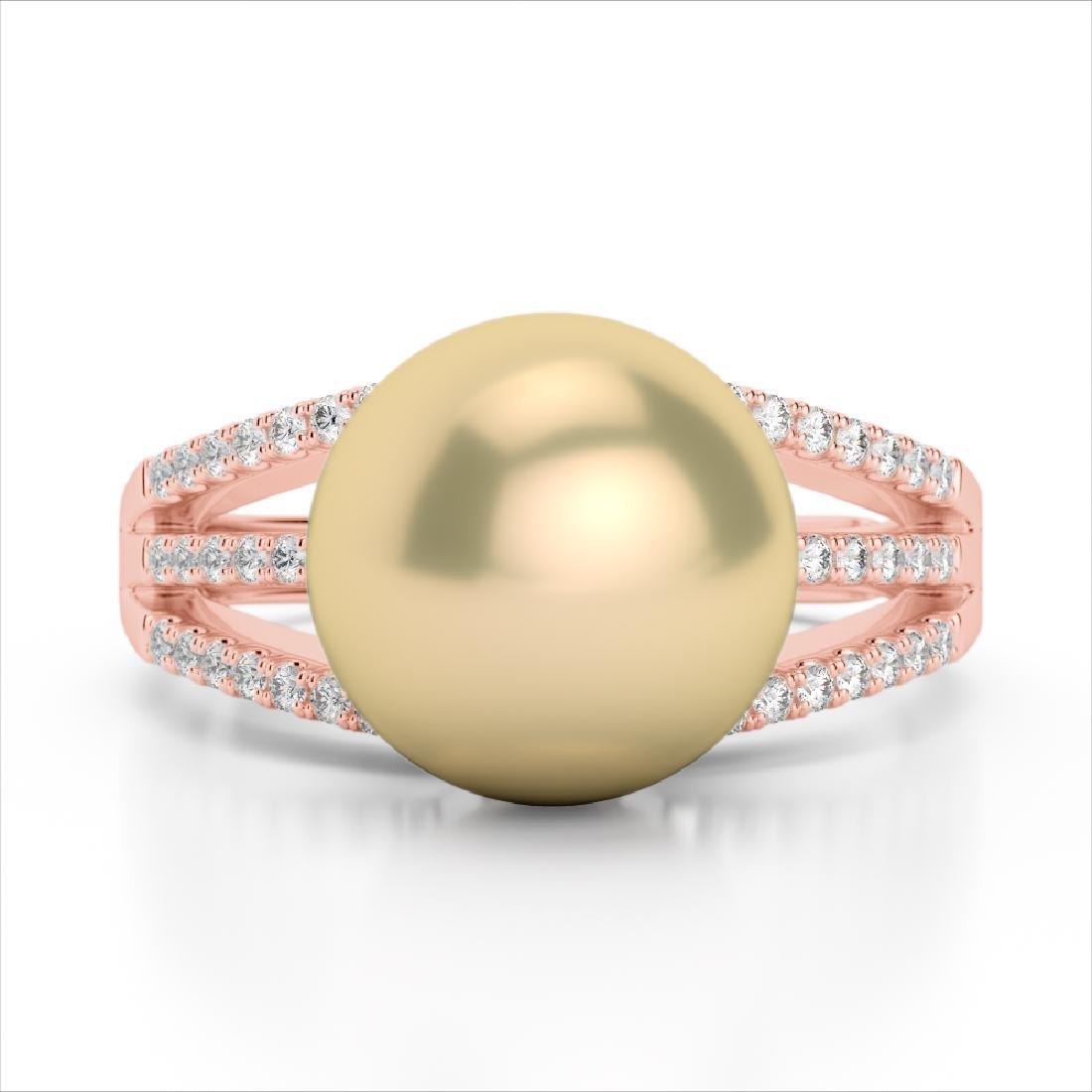 0.30 CTW Micro Pave VS/SI Diamond & Golden Pearl