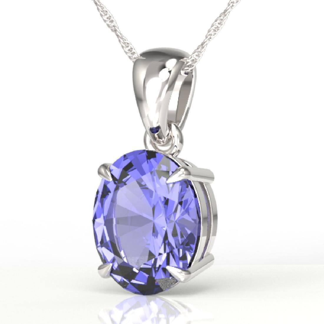 3.50 CTW Tanzanite Designer Inspired Solitaire Necklace
