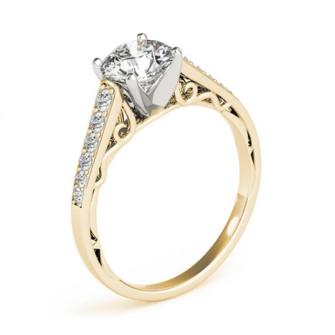 0.85 CTW Certified VS/SI Diamond Solitaire Ring 14K - 3