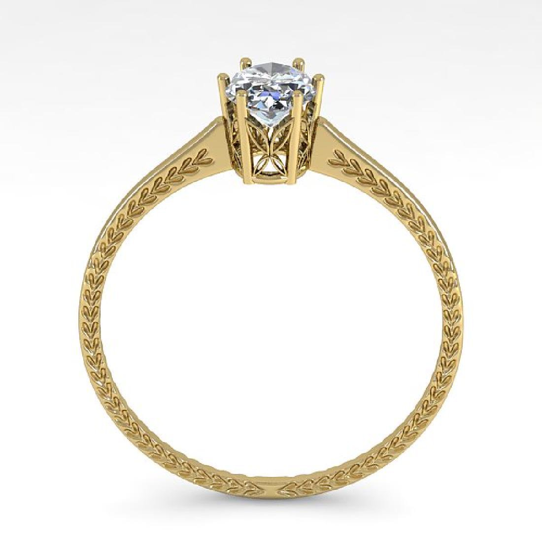 1.0 CTW VS/SI Oval Cut Diamond Art Deco Ring 14K Yellow - 3