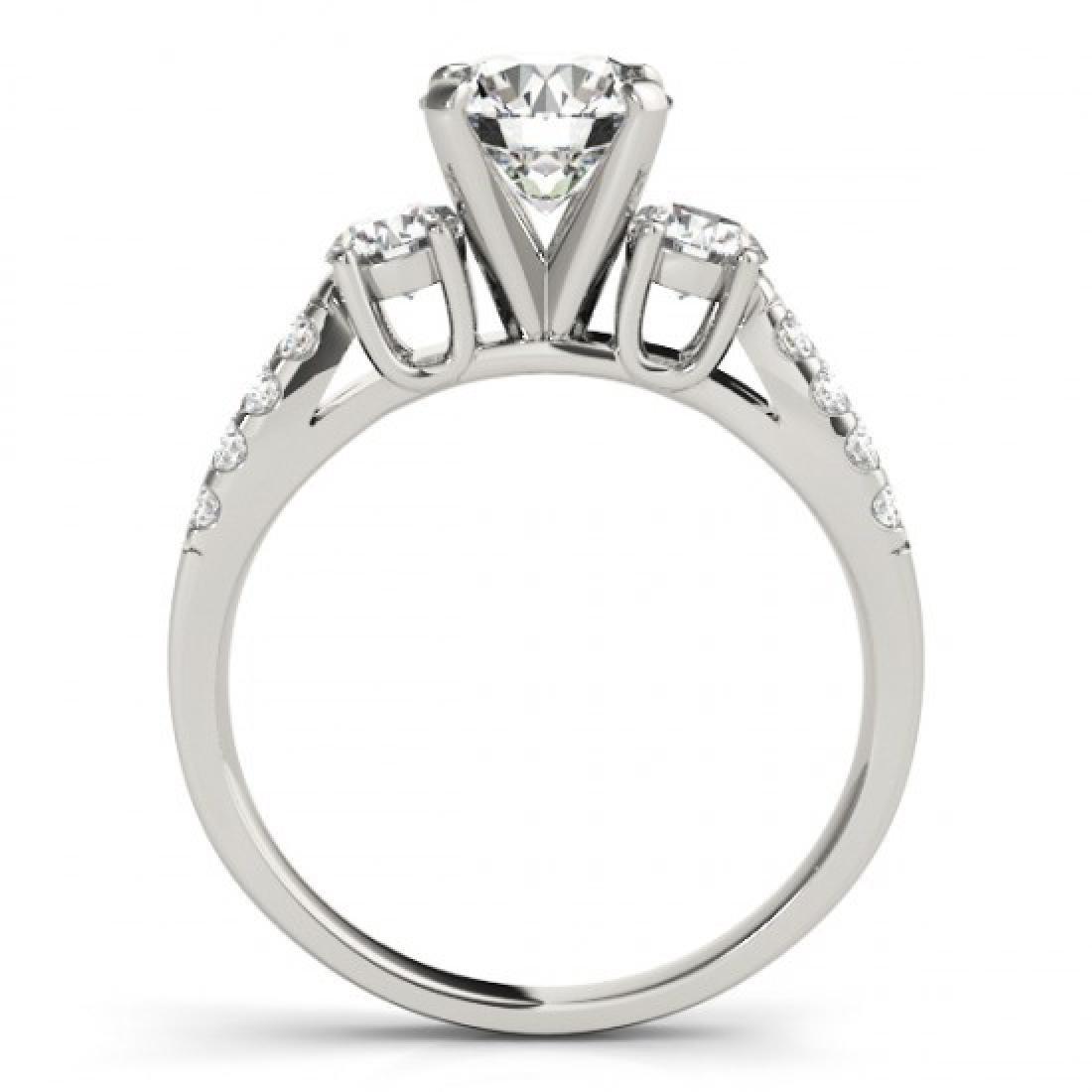 1.75 CTW Certified VS/SI Diamond 3 Stone Ring 14K White - 2