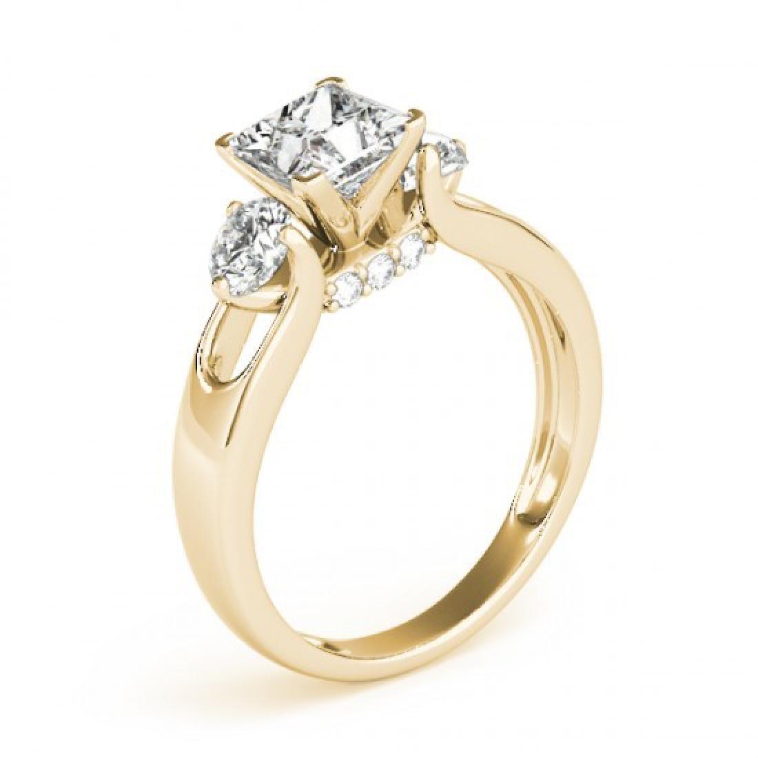 1.35 CTW Certified VS/SI Princess Cut Diamond 3 Stone - 3