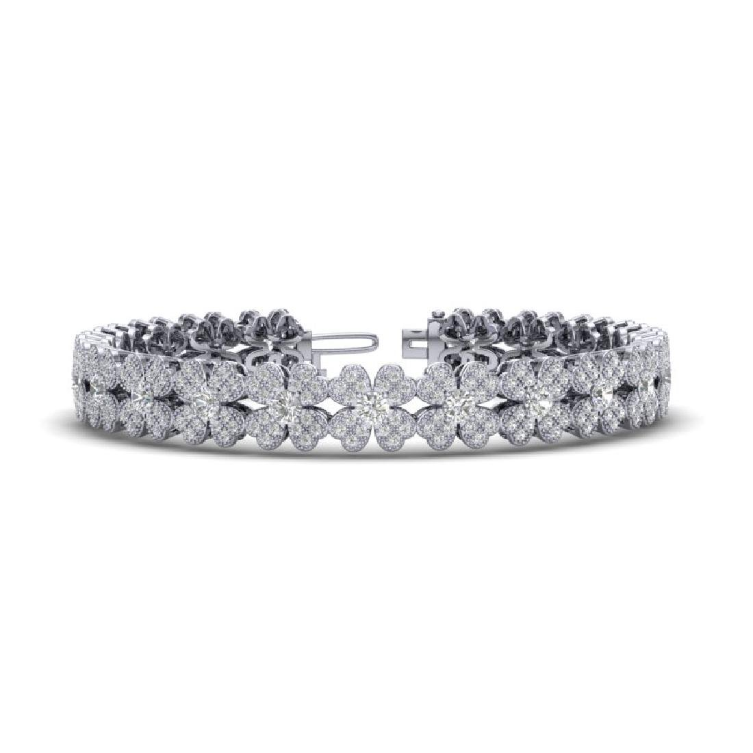 5.50 CTW Micro Pave VS/SI Diamond Bracelet 18K White