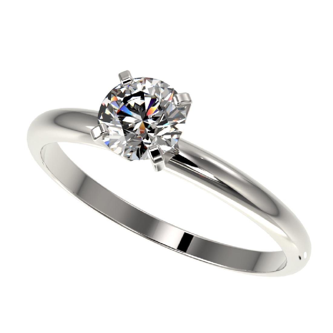 0.78 CTW Certified H-SI/I Quality Diamond Solitaire