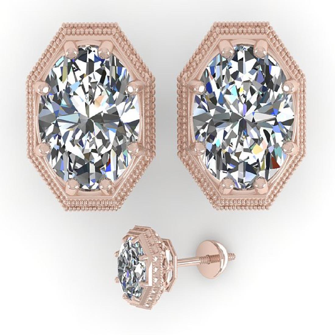 2.0 CTW VS/SI Oval Cut Diamond Stud Solitaire Earrings - 2