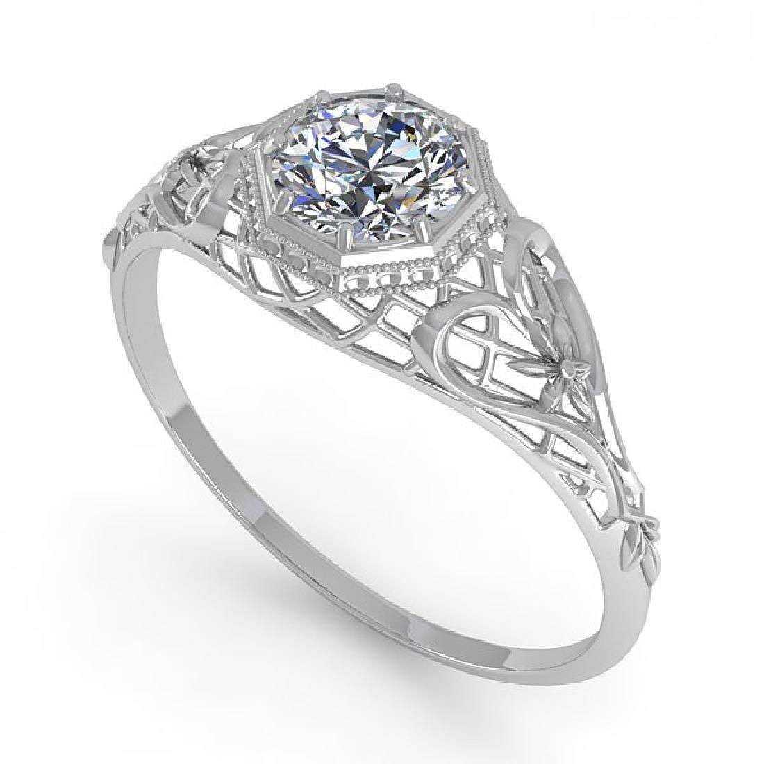 0.50 CTW VS/SI Diamond Solitaire Ring 14K White Gold - 2