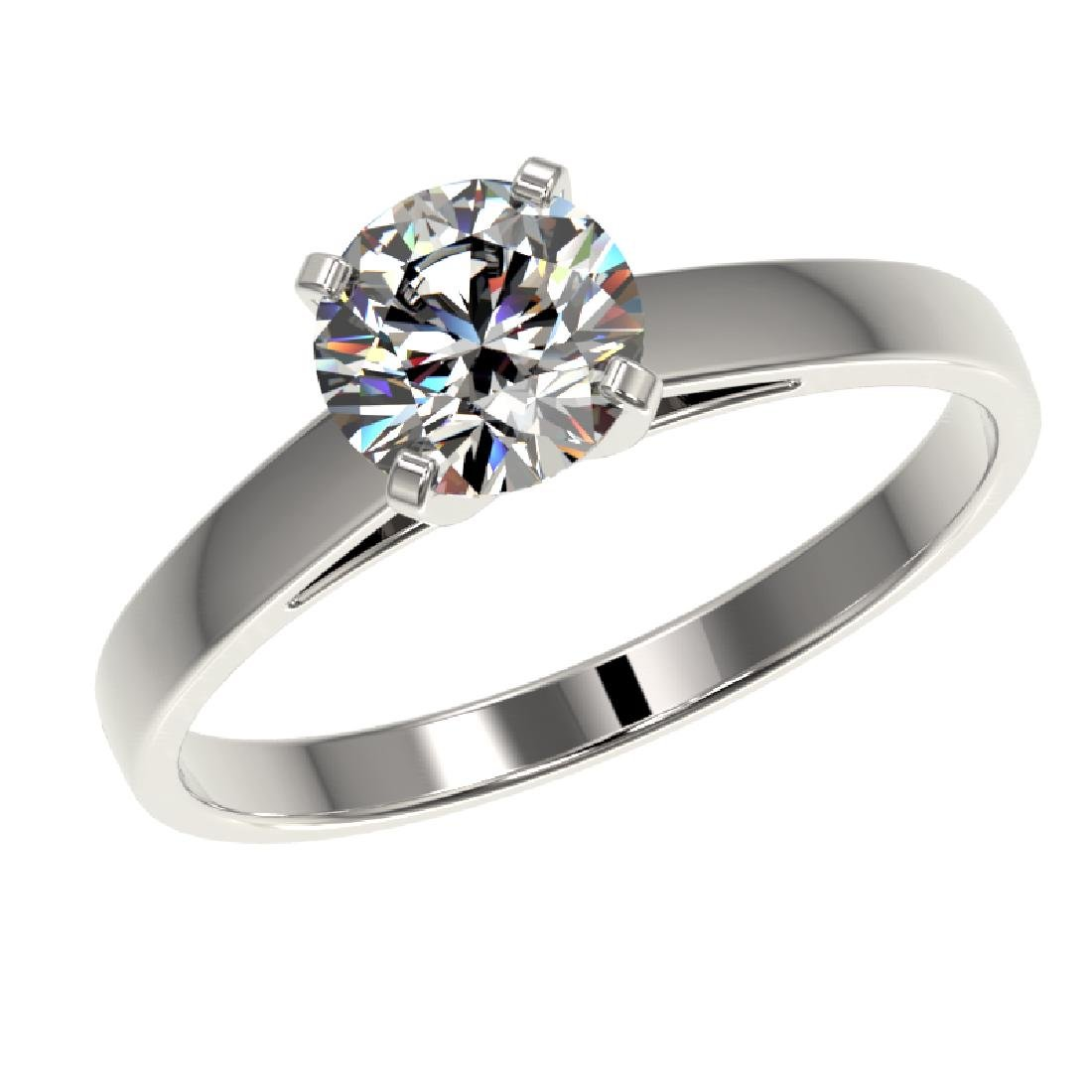 0.99 CTW Certified H-SI/I Quality Diamond Solitaire