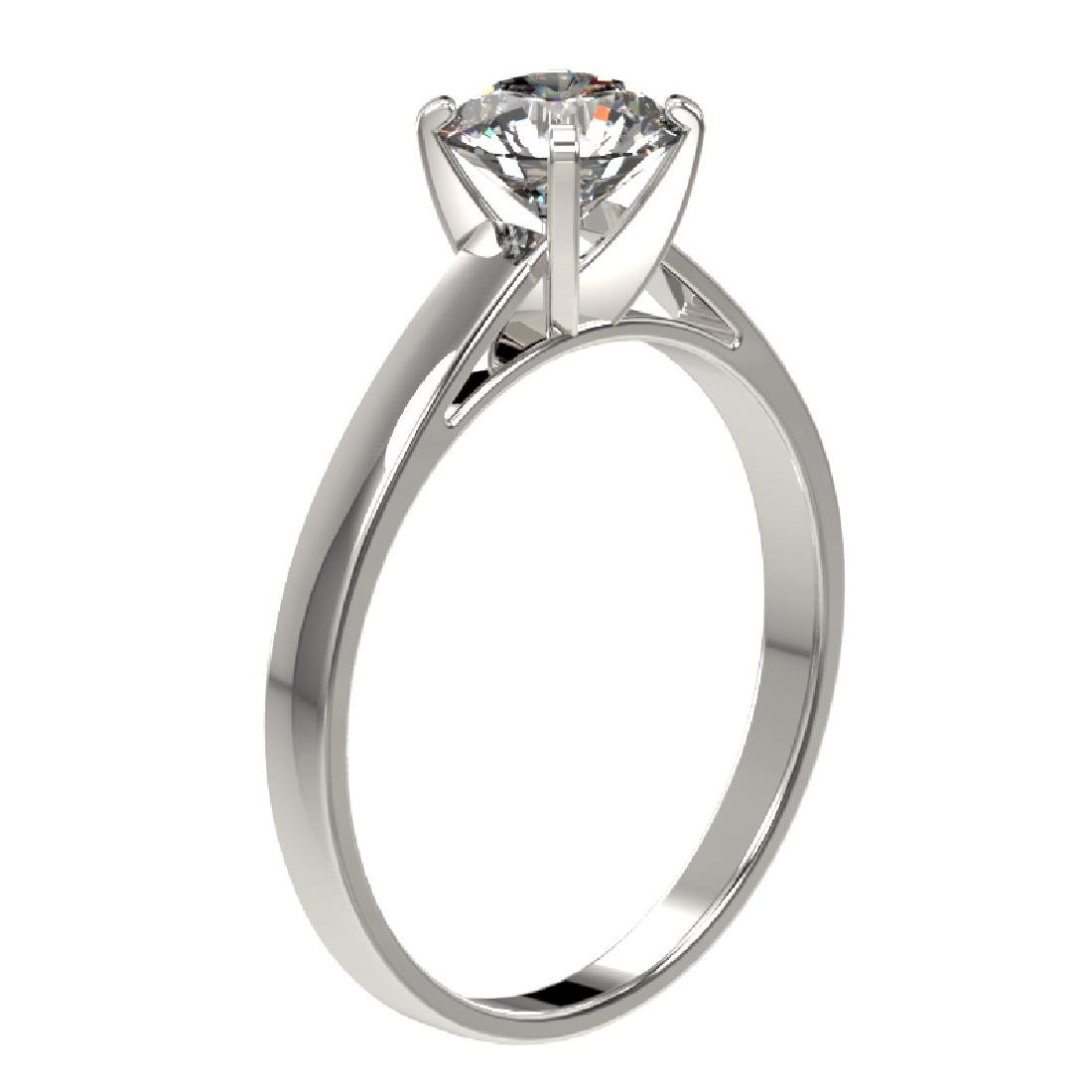 0.99 CTW Certified H-SI/I Quality Diamond Solitaire - 2