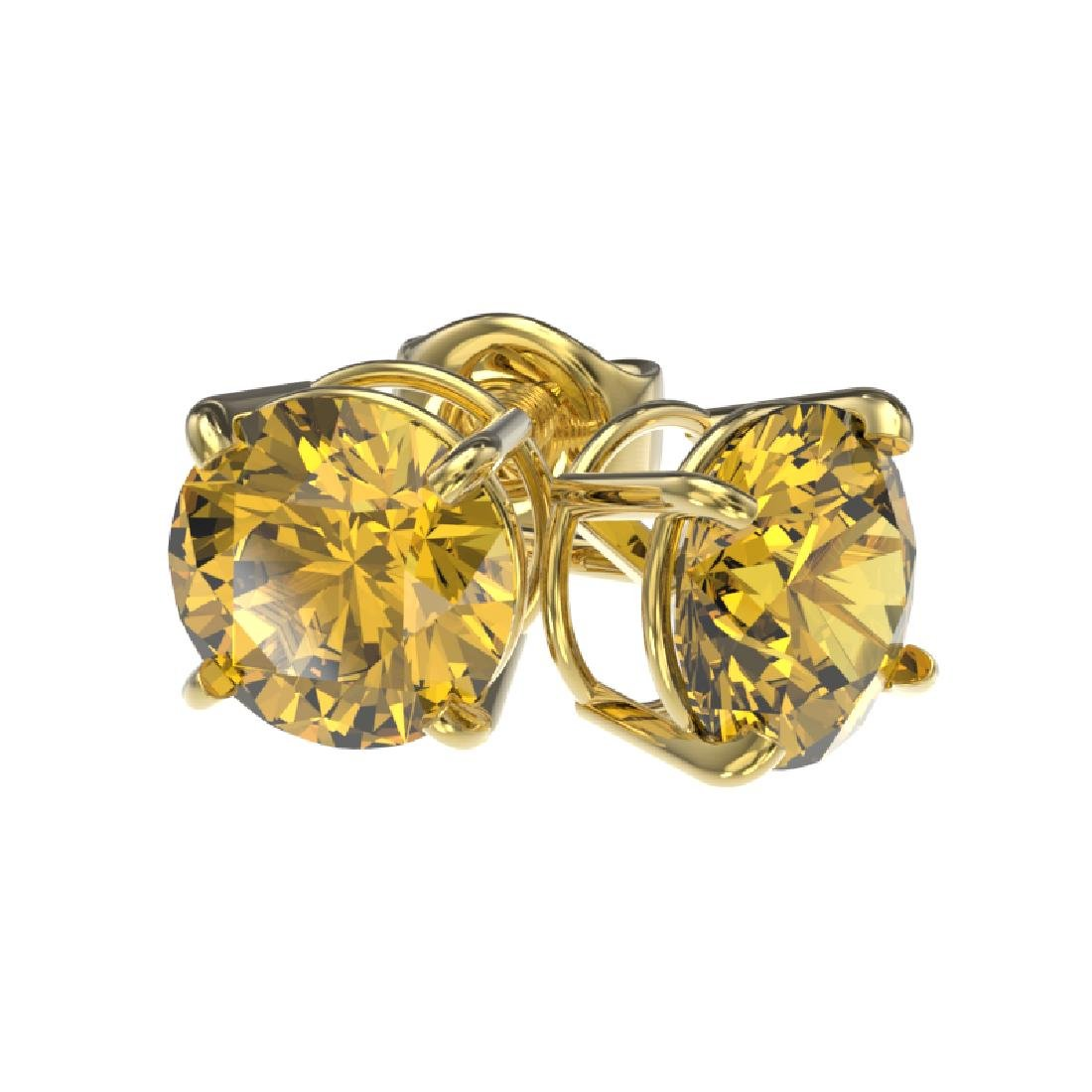 1.54 CTW Certified Intense Yellow SI Diamond Solitaire - 3
