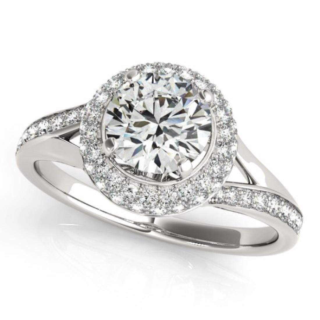 1.85 CTW Certified VS/SI Diamond Solitaire Halo Ring - 2