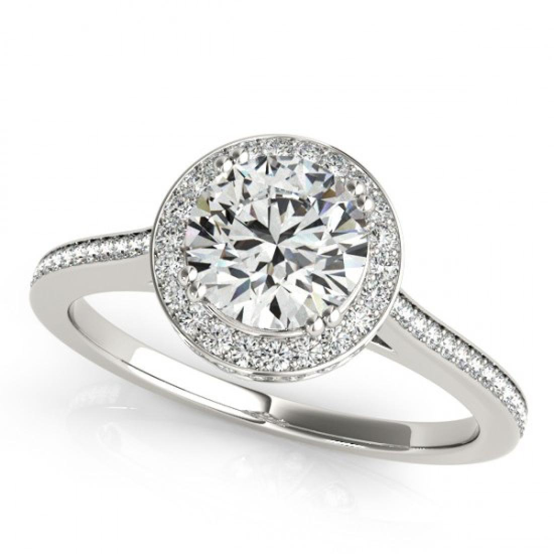 2.03 CTW Certified VS/SI Diamond Solitaire Halo Ring