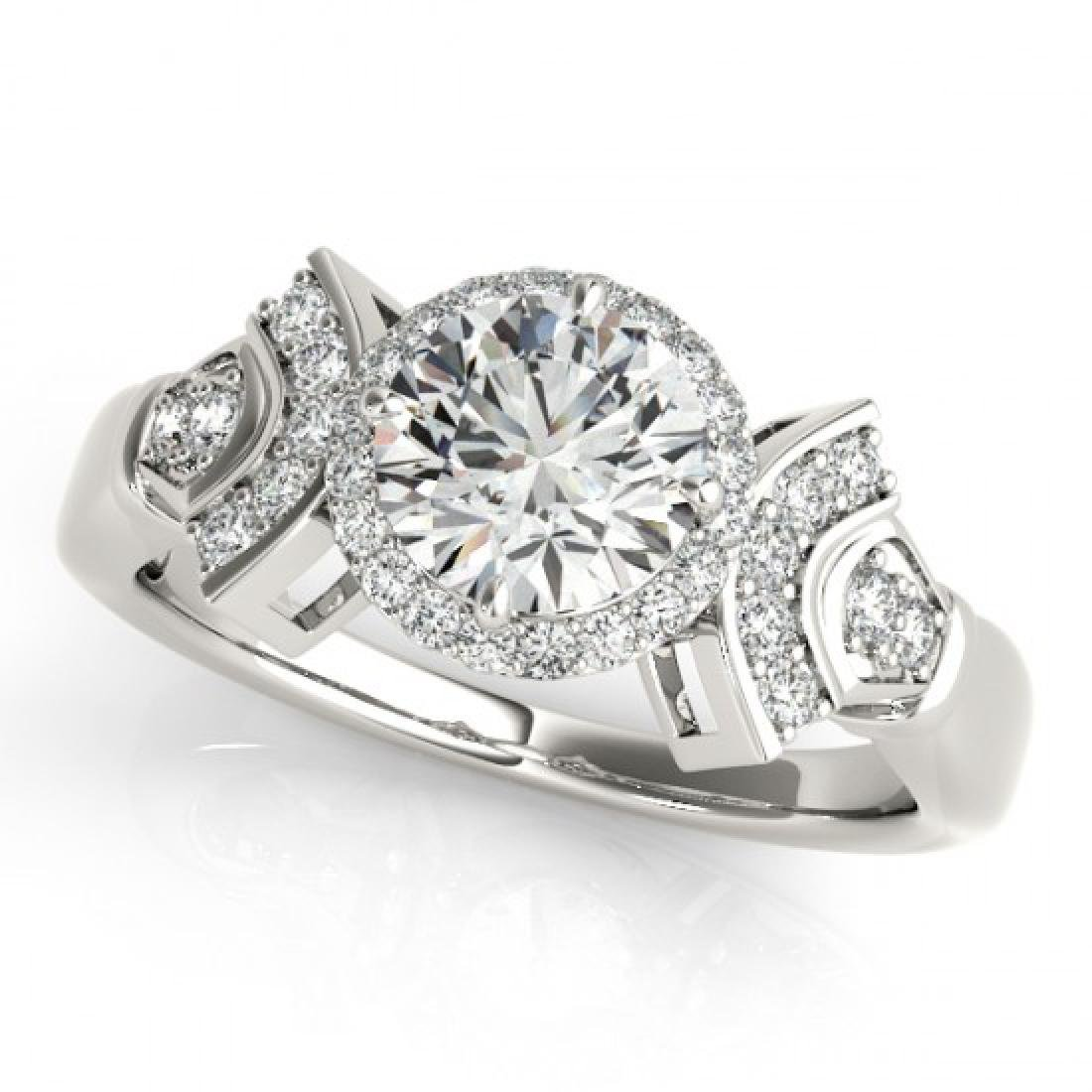 1.56 CTW Certified VS/SI Diamond Solitaire Halo Ring - 2
