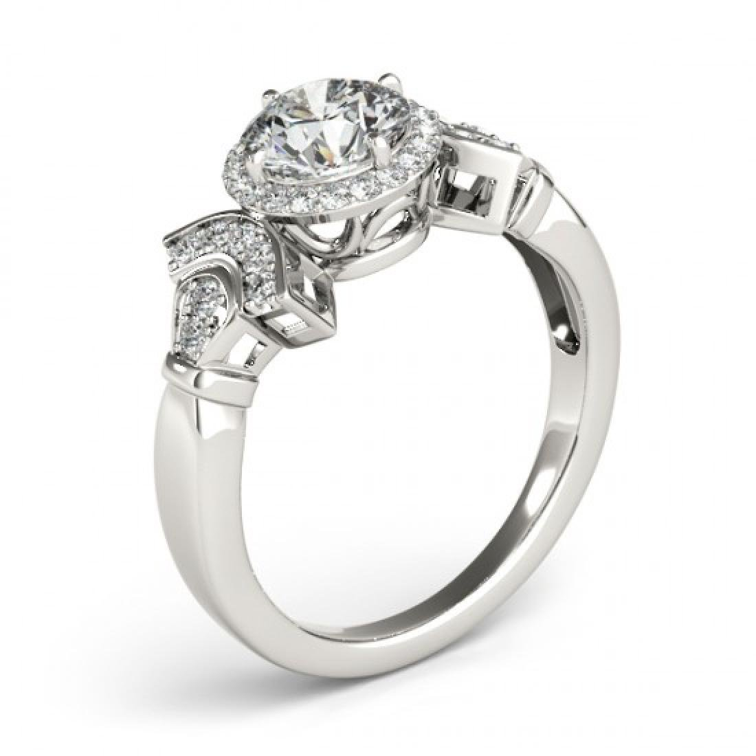 1.56 CTW Certified VS/SI Diamond Solitaire Halo Ring - 3