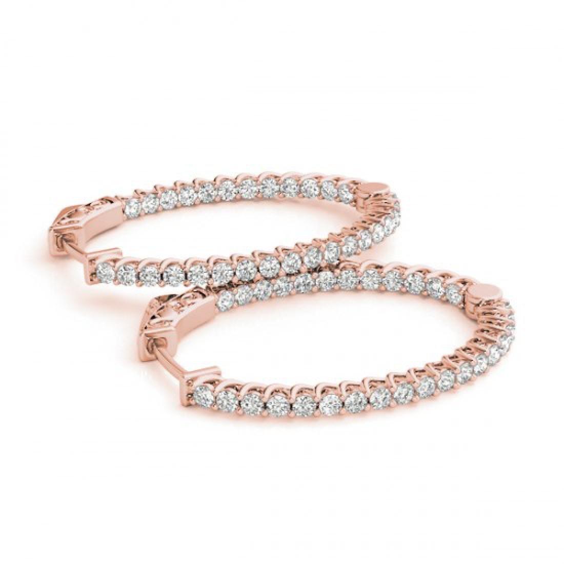 2 CTW Diamond VS/SI Certified 30 Mm Hoop Earrings 14K