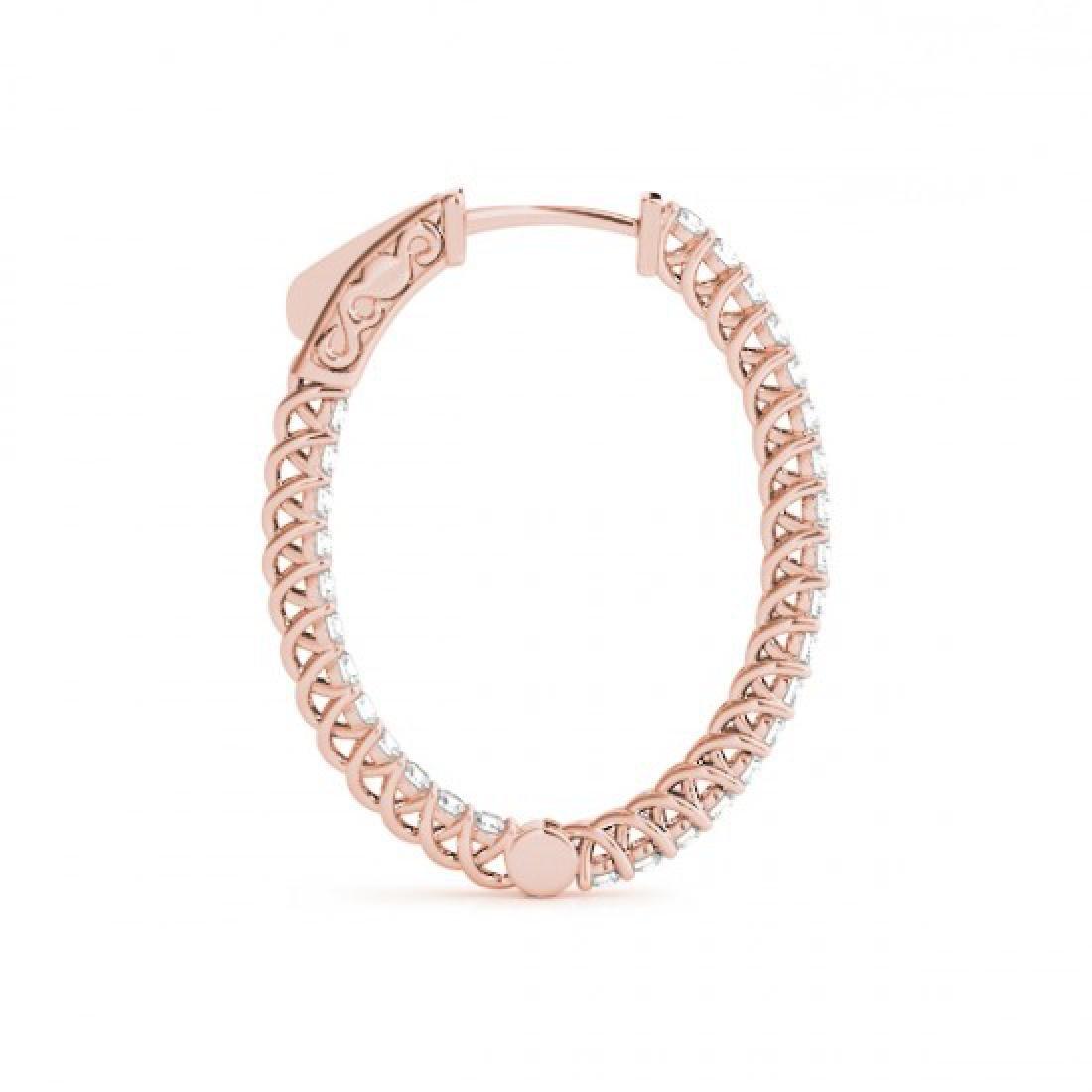 2 CTW Diamond VS/SI Certified 30 Mm Hoop Earrings 14K - 3