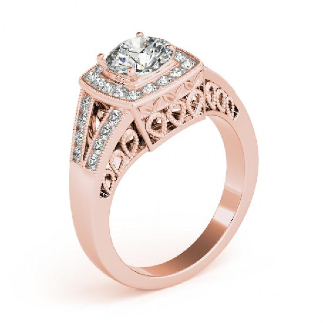 1.65 CTW Certified VS/SI Diamond Solitaire Halo Ring - 3
