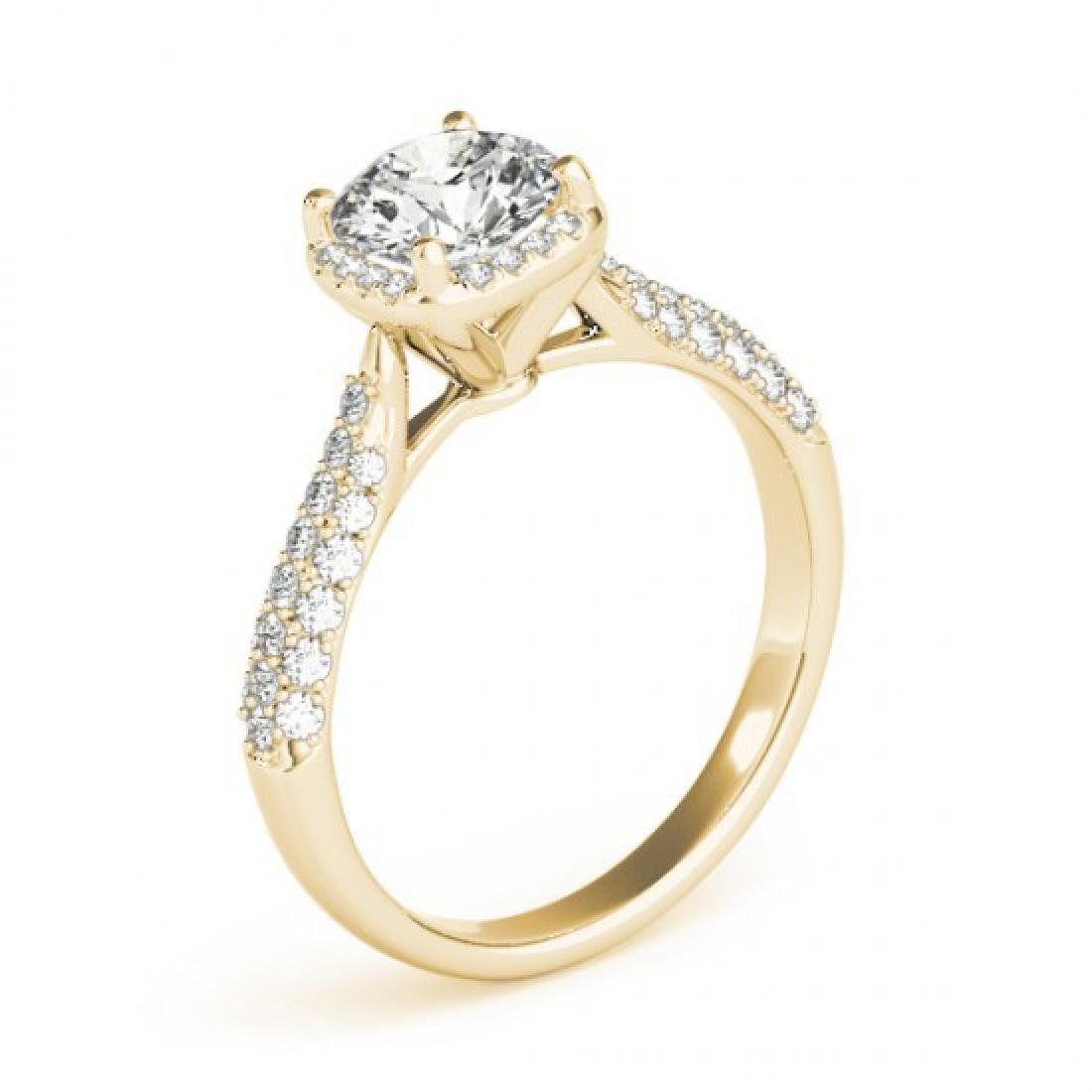 1.5 CTW Certified VS/SI Diamond Solitaire Halo Ring 14K - 3