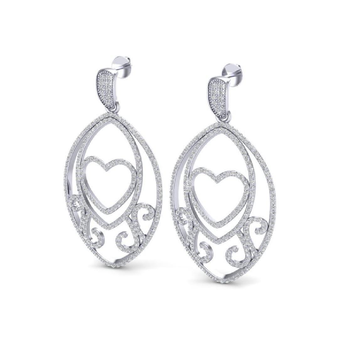 3.20 CTW Micro Pave VS/SI Diamond Designer Heart