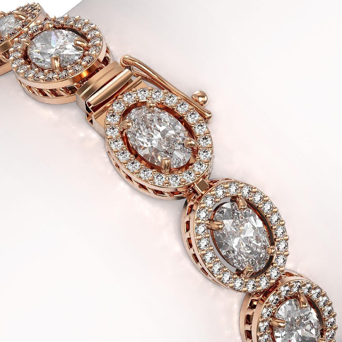 13.25 CTW Oval Diamond Designer Bracelet 18K Rose Gold - 3