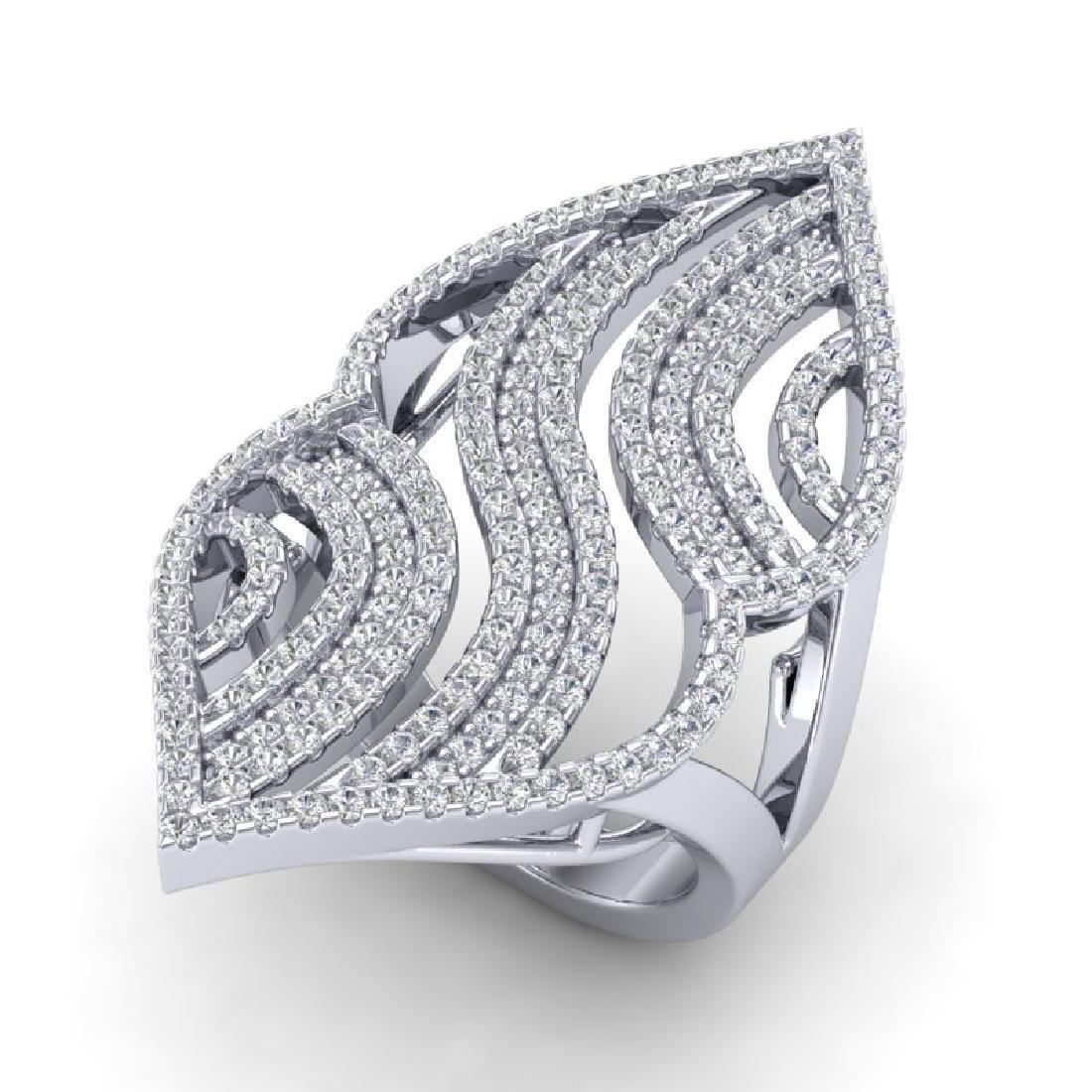 2 CTW Micro Pave VS/SI Diamond Designer Ring 14K White
