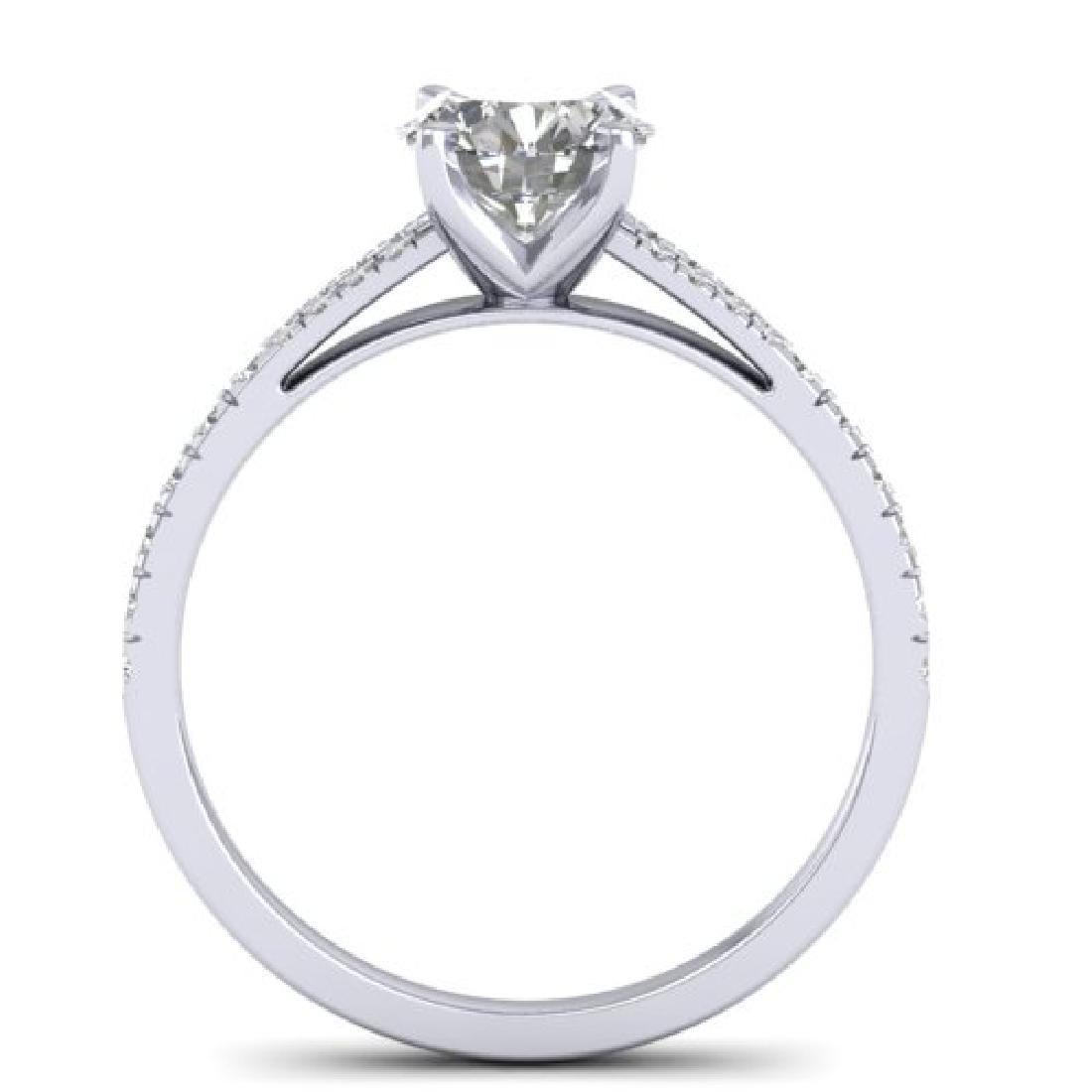 1.36 CTW Certified VS/SI Diamond Solitaire Art Deco - 3