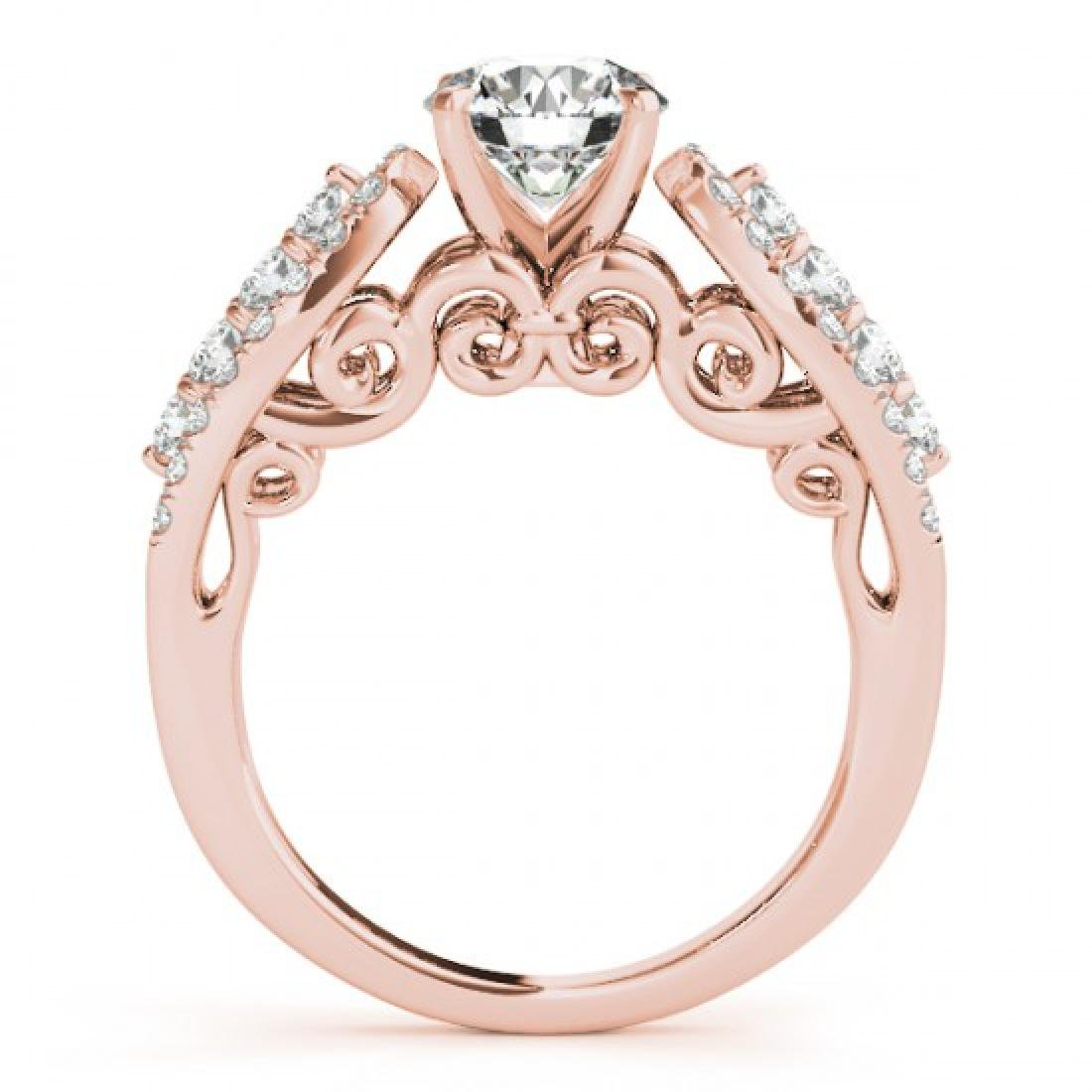2 CTW Certified VS/SI Diamond Solitaire Ring 14K Rose - 2