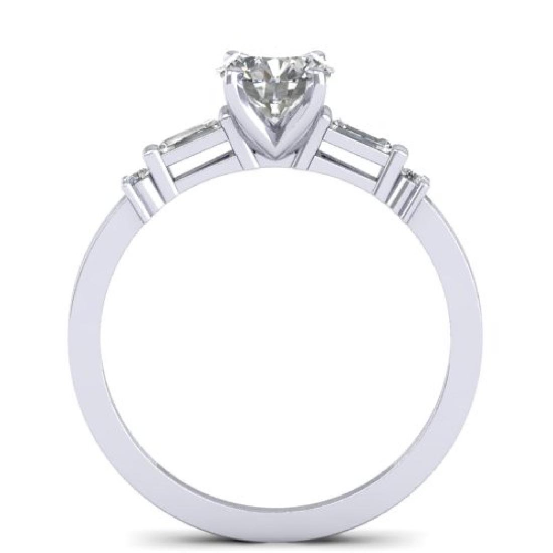 1.04 CTW Certified VS/SI Diamond Solitaire Ring 18K - 3