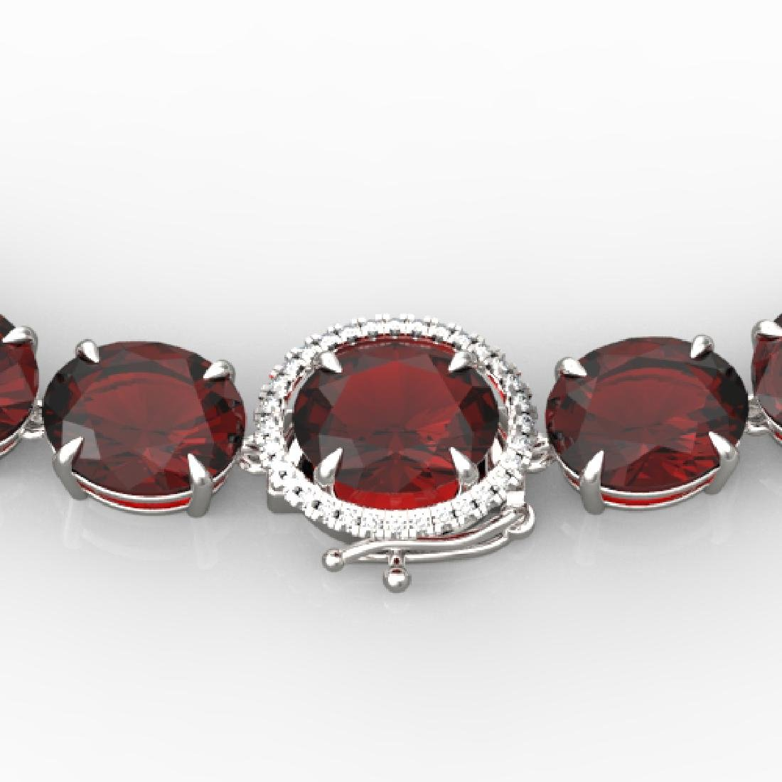145 CTW Garnet & VS/SI Diamond Halo Micro Solitaire