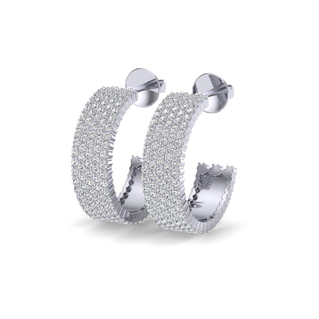 4.50 CTW Micro Pave VS/SI Diamond Earrings 14K White