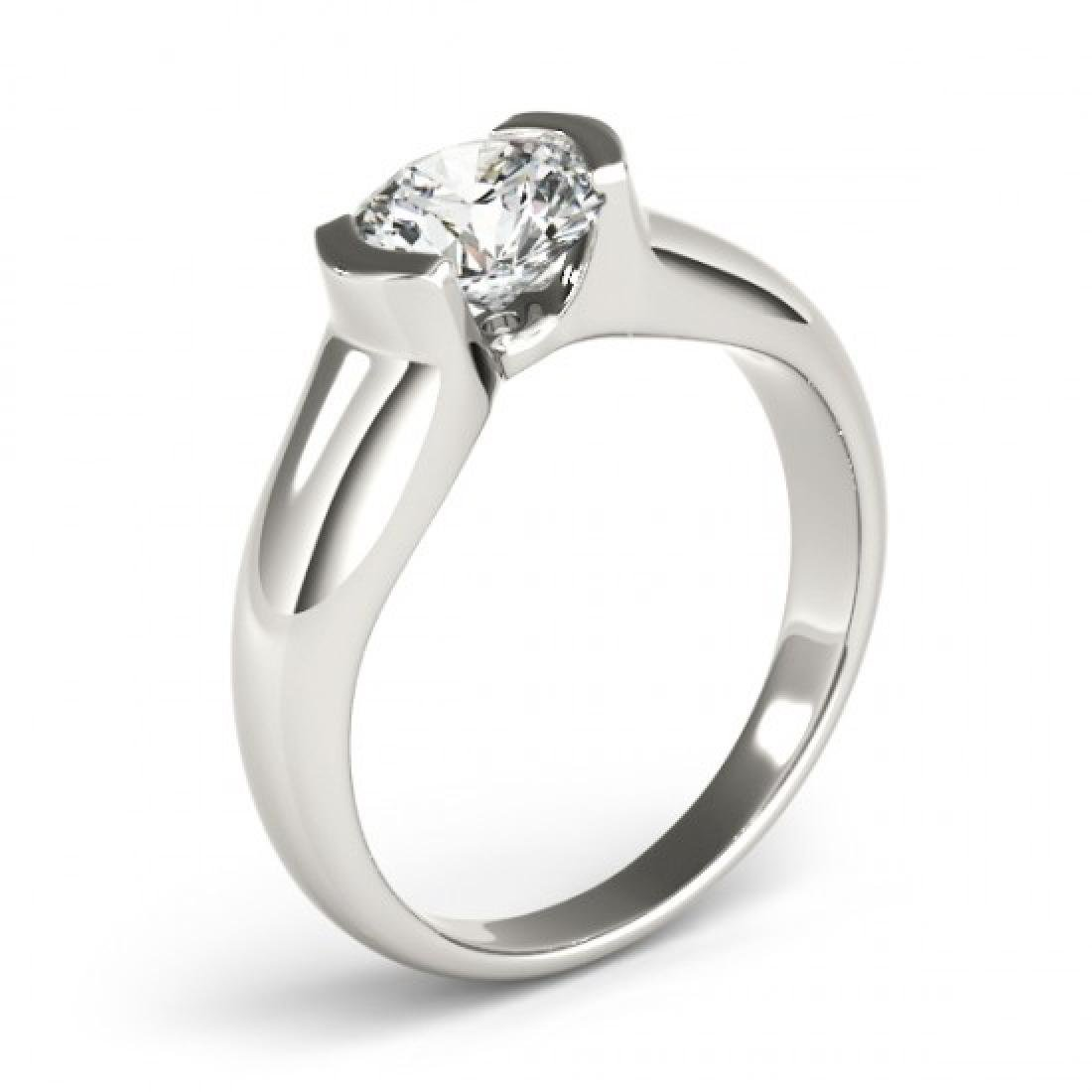 0.5 CTW Certified VS/SI Diamond Solitaire Ring 14K - 3