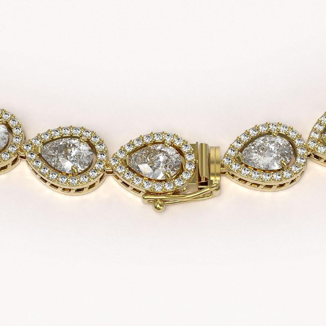 28.74 CTW Pear Diamond Designer Necklace 18K Yellow - 3