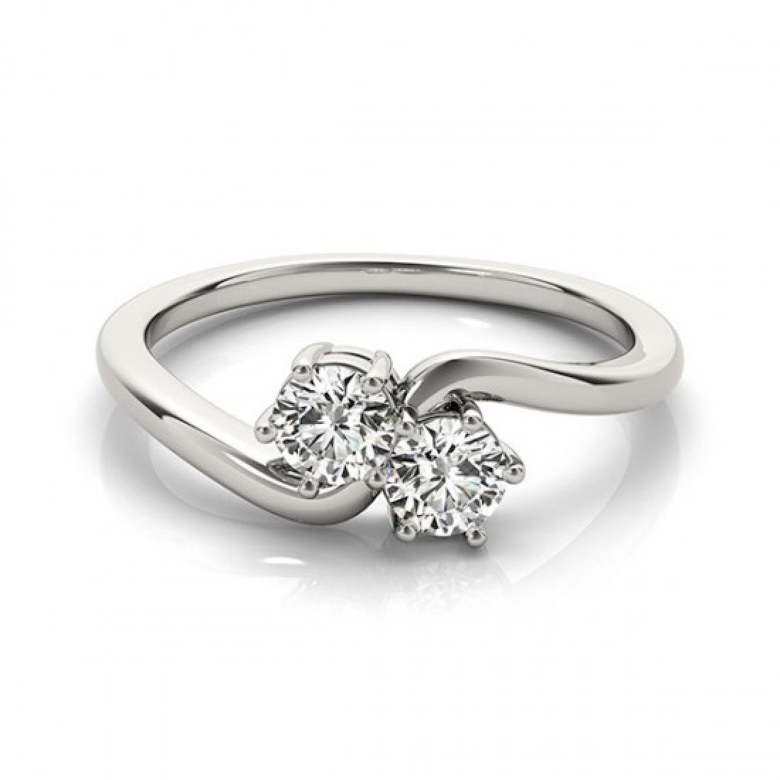 0.75 CTW Certified VS/SI Diamond 2 Stone 2 Stone Ring